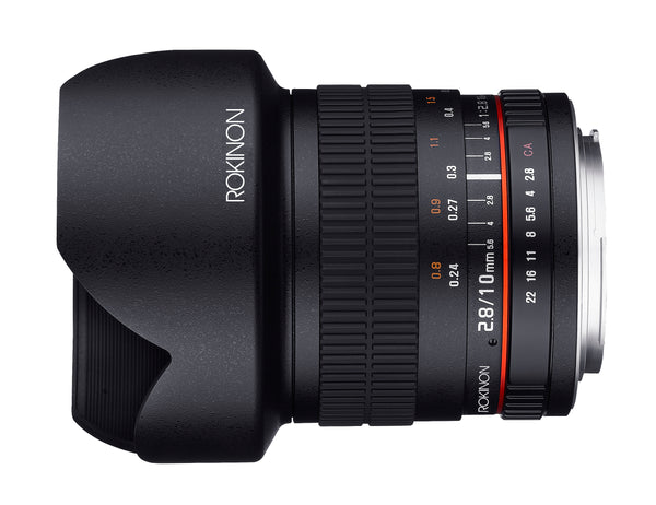 Rokinon 10mm F2.8 Ultra Wide Angle Lens for Nikon with AE Chip