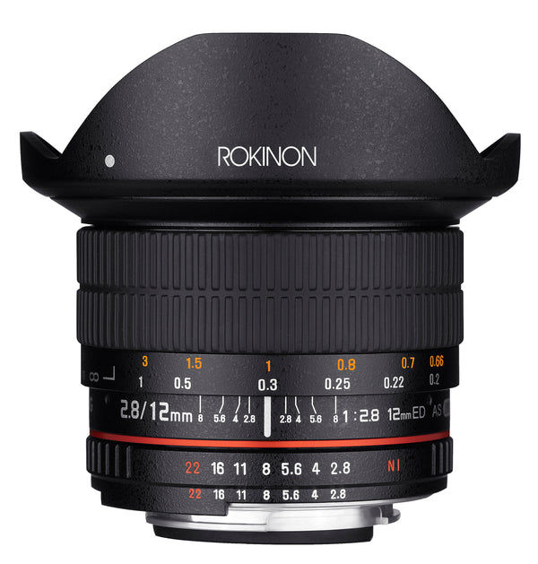 Rokinon 12mm F2.8 Full Frame Fisheye Lens for Nikon AE