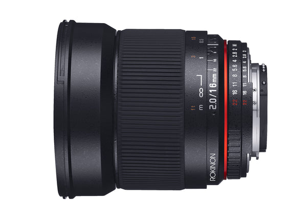 Rokinon 16mm F2.0 Ultra Wide Angle Lens for Canon M Mount