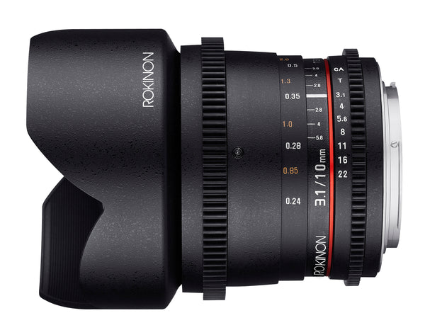 Rokinon 10mm T3.1 Cine Super Wide Angle Lens for Canon EF Mount