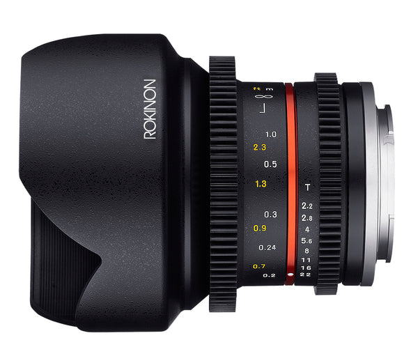 Rokinon 12mm T2.2 Cine Super Wide Angle Lens for Micro Four Thirds