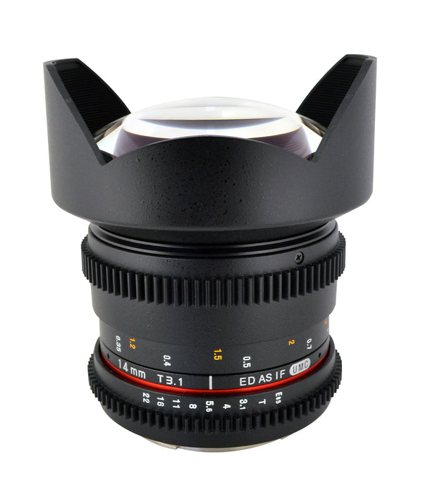 Rokinon 14mm T3.1 Cine Super Wide Angle Lens for Canon EF Mount