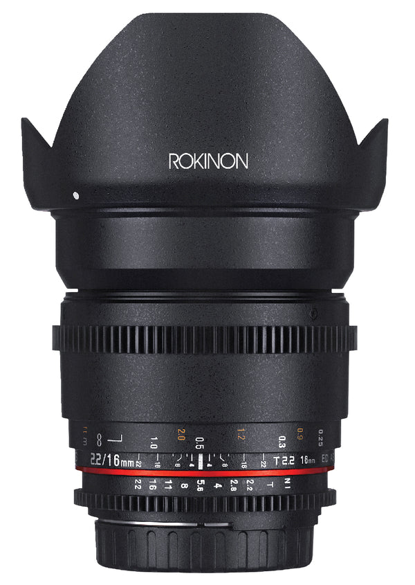 Rokinon 16mm T2.2 Cine Wide Angle Lens for Canon EF Mount
