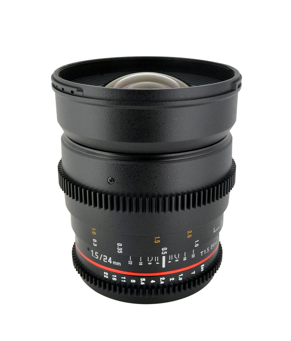 Rokinon 24mm T1.5 Cine Wide Angle Lens for Micro Four Thirds Mount