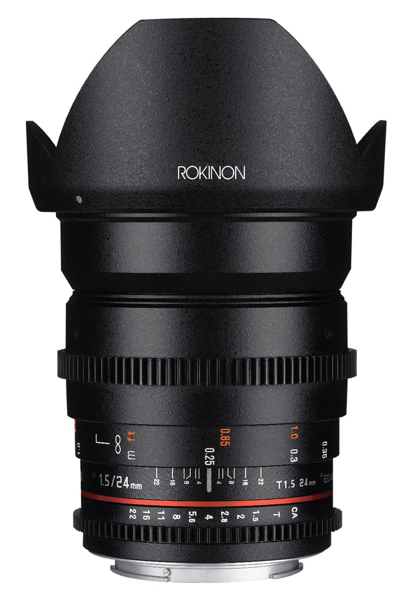 Rokinon 24mm T1.5 Cine Wide Angle Lens for Sony Alpha Mount