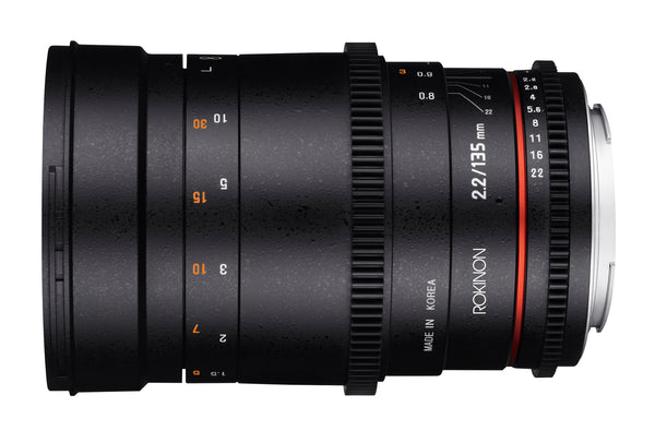 Rokinon Cine DS 135mm T2.2 Telephoto Cine Lens for Canon EF