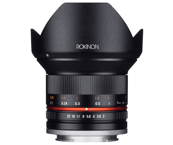 Rokinon 12mm F2.0 Ultra Wide Angle Lens for Sony E-Mount (Black)