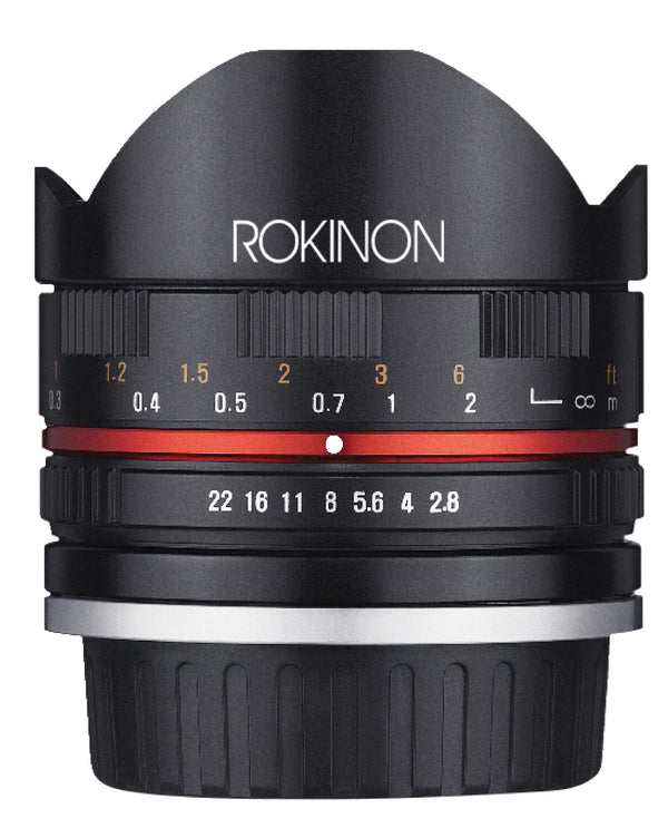 Rokinon Series II 8mm F2.8 UMC Fisheye Lens for Canon M Mount (Black)