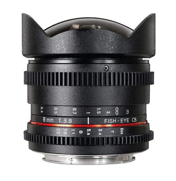 Rokinon 8mm f-3.8 Cine HD Fisheye Lens with Lens Hood for Micro 4-3