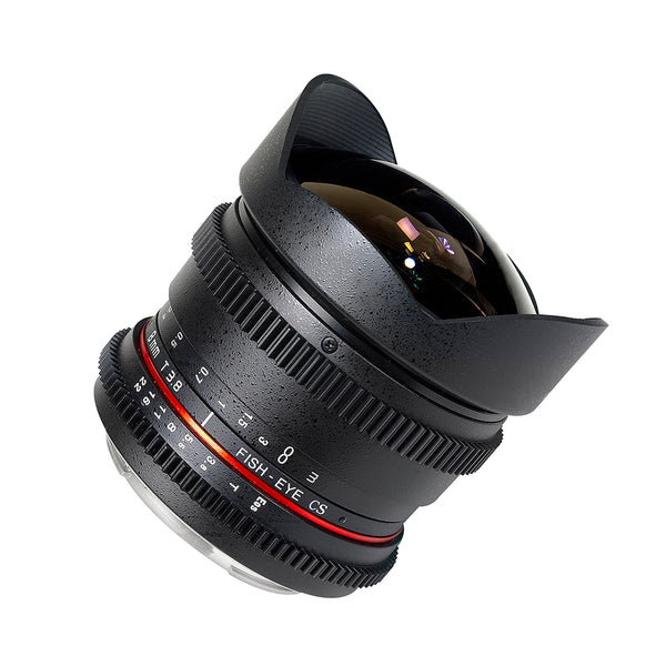 Rokinon 8mm T3.8 Cine HD Fisheye Lens and Removable Hood (E-Mount)