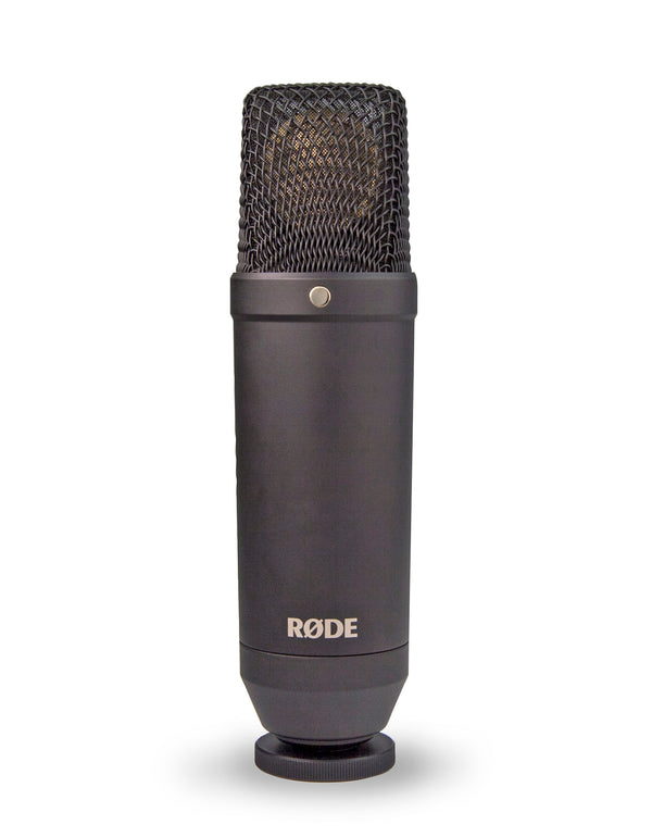 "Rode NT1-Kit Fixed Cardioid 1"" Condenser Mic with Shock and Pop Filter"