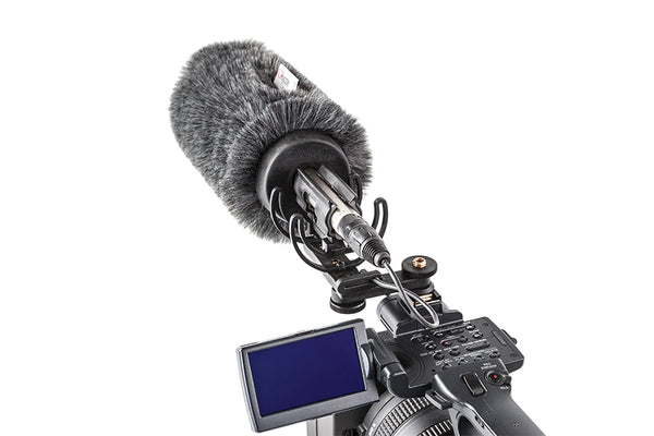 Rycote 116012 18cm Standard Hole Classic-Softie Camera Kit (19-22), incl. Classic-Softie Windshield, hairbrush, InVision Video (Hot Shoe) Duo-Lyre Shockmount, 10cm Hot Shoe Extension, 3-8