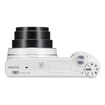 Samsung WB250F 14.2MP Smart Camera with 18x Optical Zoom with WiFi and Touch Screen (White)