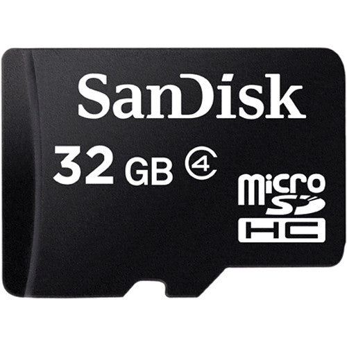 SanDisk 32GB microSDHC Memory Card Class 4 with Adapter