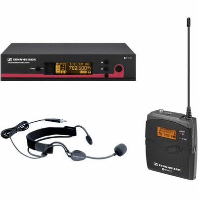 Sennheiser EW152G3-A SK100 G3 bodypack transmitter, ME3-ew cardioid headset and EM100 G3 rack-mountable diversity receiver. GA3 rack kit not included. (516-558 MHz)
