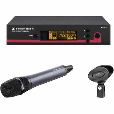 Sennheiser EW165G3-B SKM100 G3 handheld transmitter with e865 supercardioid condenser capsule and EM100 G3 rack-mountable diversity receiver. GA3 rack kit not included. (626-668 MHz)