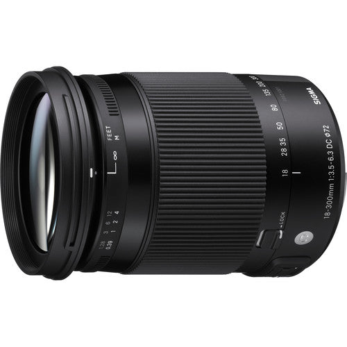 Sigma 18-300mm 3.5-6.3 DC MACRO OS HSM Contemporary Lens for Canon EF with Macro Kit
