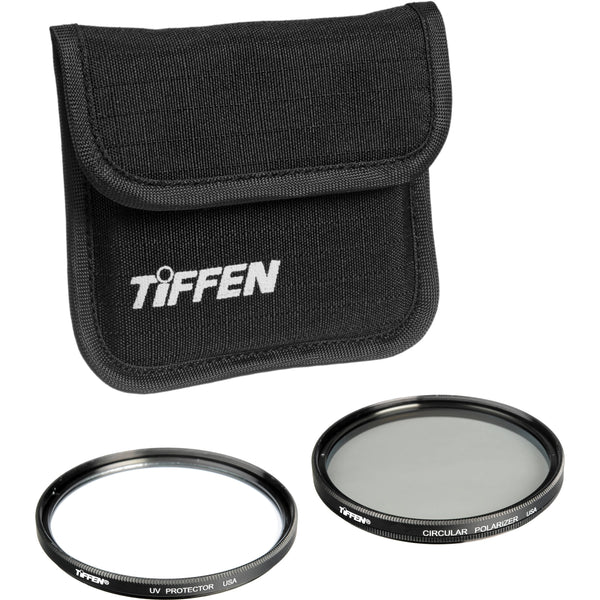 Tiffen 58mm Photo Twin Pack (UV and Circular Polarizing Filter)