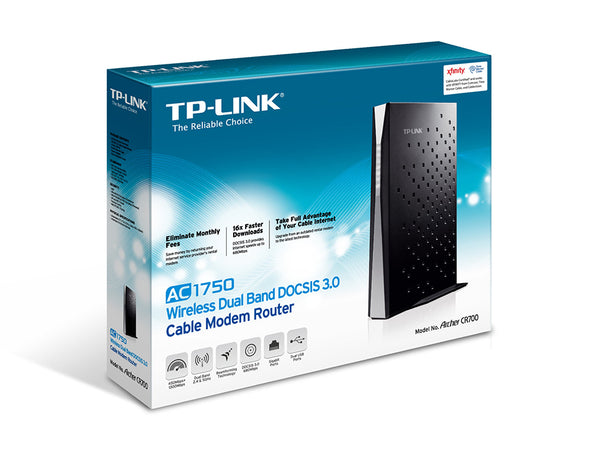 tp-link Archer CR700 AC1750 Dual Band DOCSIS 3.0 Cable Modem Router