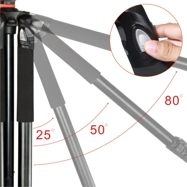 Vanguard Aluminum Tripod with TBH-100