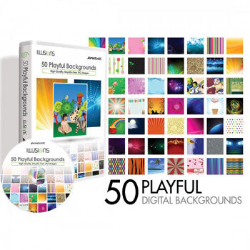 Westcott Photo Illusion 50 Playful Backgrounds CD