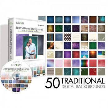 Westcott Photo Illusion 50 Traditional Backgrounds CD