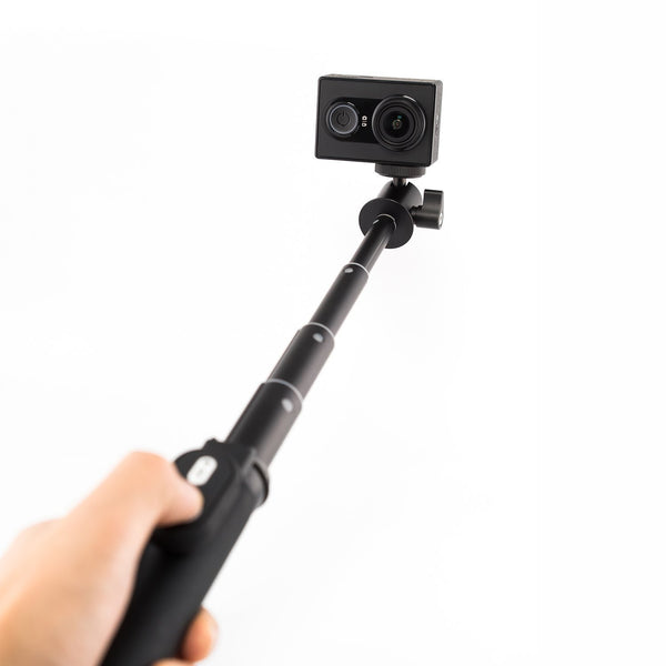 YI Action Camera Kit with Selfie Stick & Bluetooth Remote (Black)