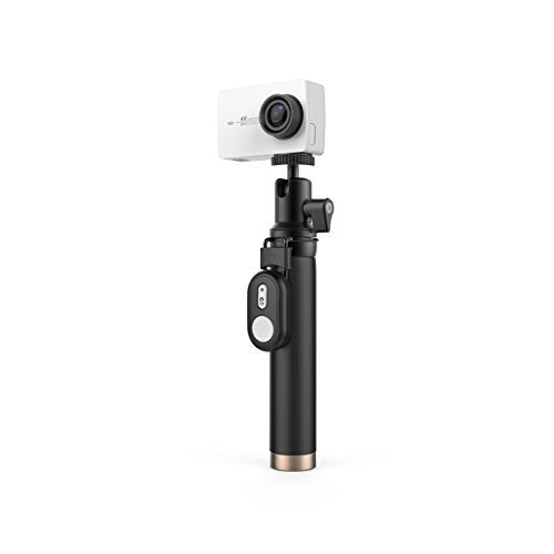 YI 4K Action Camera with Selfie Stick & Bluetooth Remote (White)