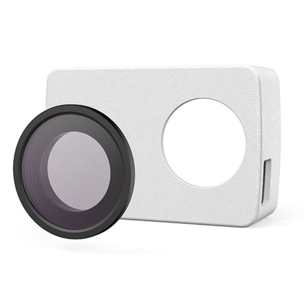 YI Action Camera Leather Case with UV lens Filter (White)