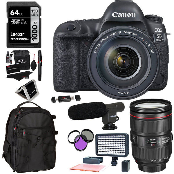 Canon EOS 5D Mark IV DSLR with 24-105mm Lens and Video Kit