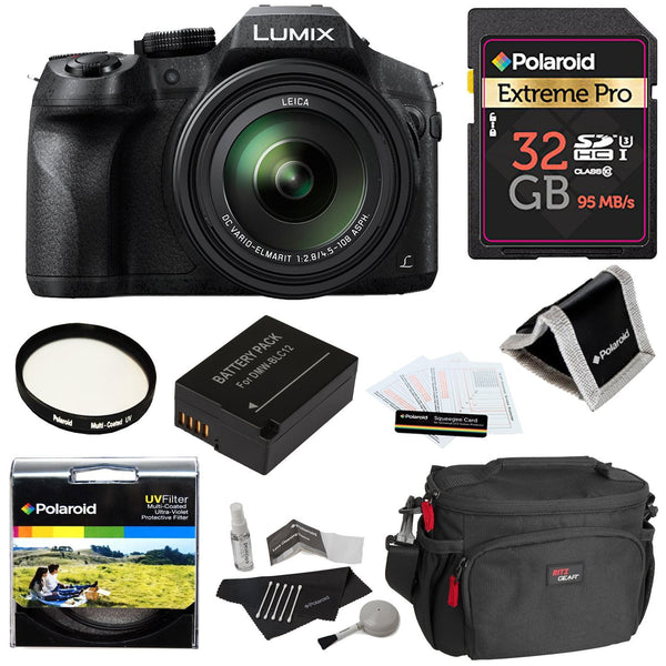 Panasonic Lumix FZ300 with Leica Zoom Lens and 7 Accessories