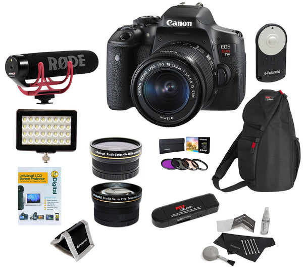 Canon EOS Rebel T6i DSLR Video Creator Kit with 18-55mm Lens