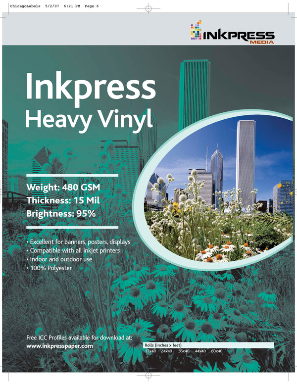 Inkpress Heavy Vinyl 24  X  45, Roll