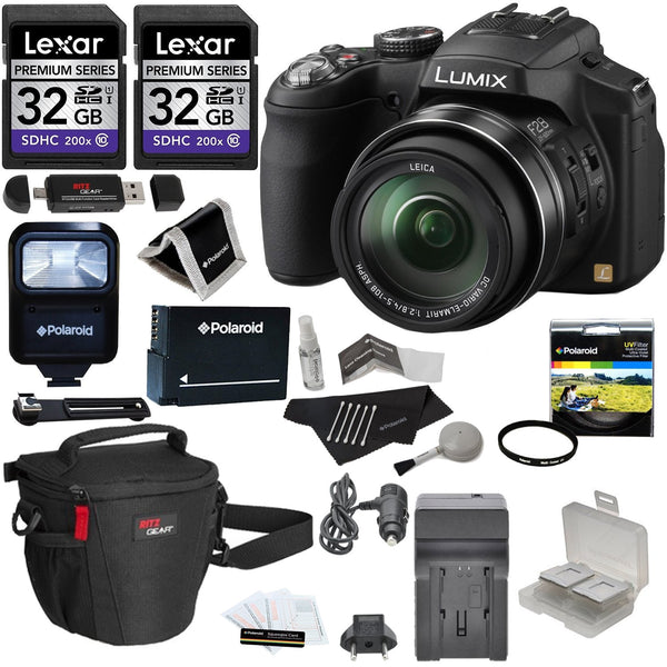 Panasonic Lumix FZ200 Superzoom Camera with 11 Deluxe Accessories