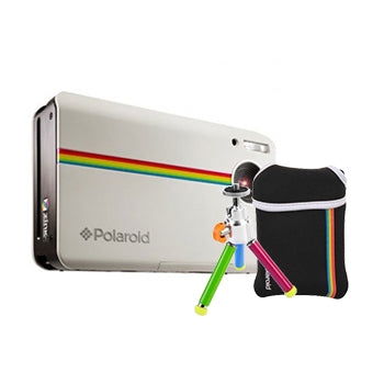 Polaroid Z2300 Instant Camera (White) with Color Tripod and Bag