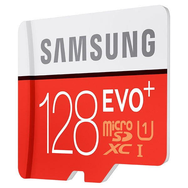 Samsung 128GB MicroSDXC EVO+ UHS-1 Class 10 Memory Card with Adapter