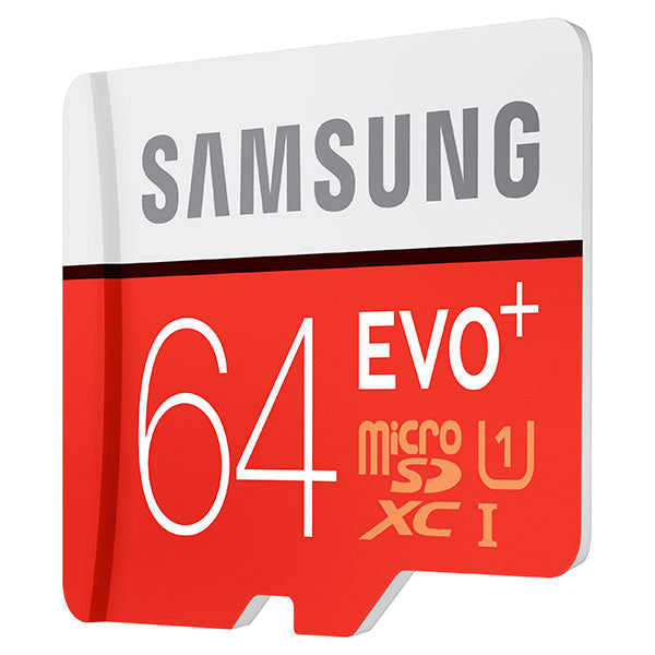 Samsung 64GB MicroSDXC EVO+ UHS-1 Class 10 Memory Card with Adapter