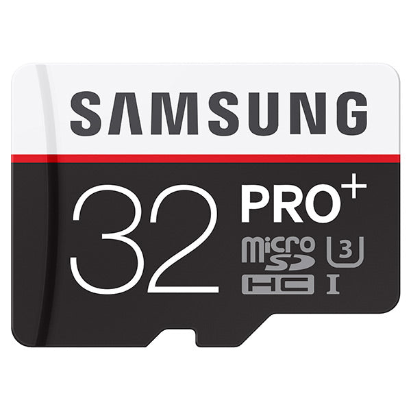 Samsung 32GB MicroSDHC PRO+ UHS-3 Class 10 Memory Card with Adapter