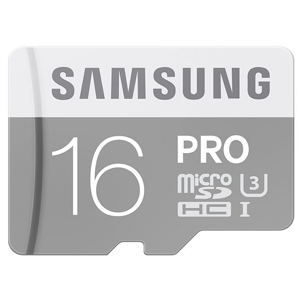 Samsung 16GB MicroSDHC PRO UHS-3 Class 10 Memory Card with Adapter