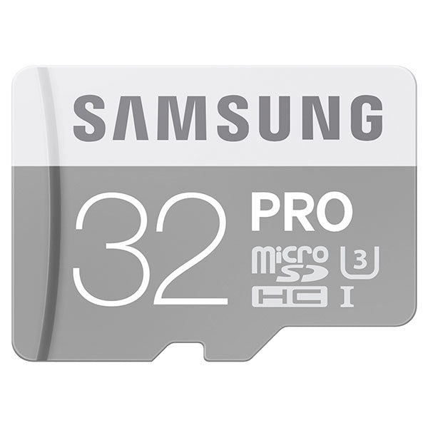 Samsung 32GB MicroSDHC PRO UHS-3 Class 10 Memory Card with Adapter