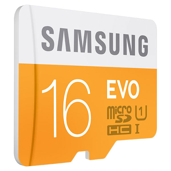 Samsung 16GB MicroSDHC EVO Memory Card with Adapter