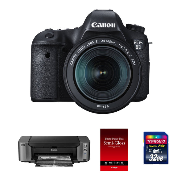 Canon EOS 6D DSLR with 24-105mm Lens and PIXMA Pro-10 Printer