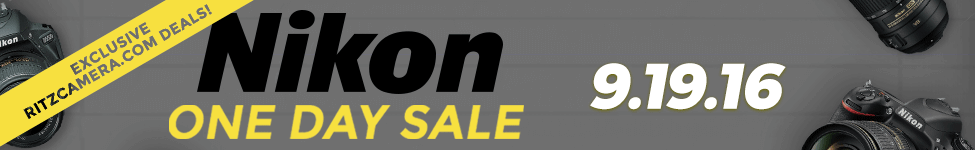 Nikon DSLR and Lenses One Day Sale. 24 Hours Only.
