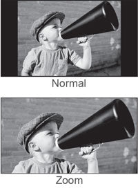 Black and white image of little boy with old fashioned megaphone