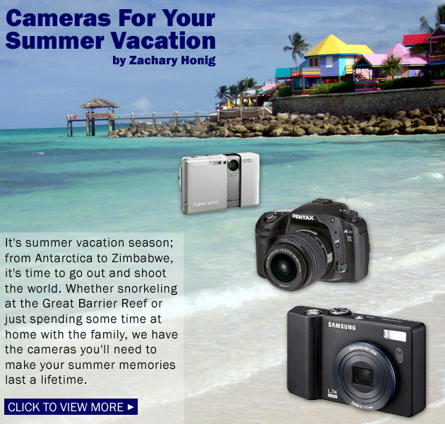 Cameras For Your Summer Vacation