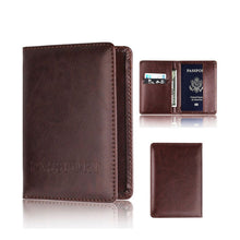 Load image into Gallery viewer, Leather Passport (Rfid) Holder