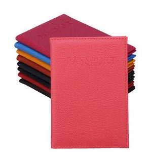 Colorful leather passport covers