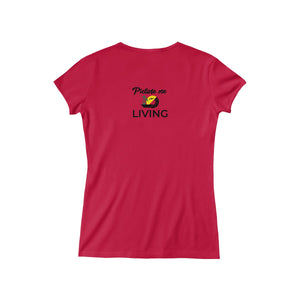 "Women's ""Vacay Mode"" V-Neck Tee (Color Logo)"