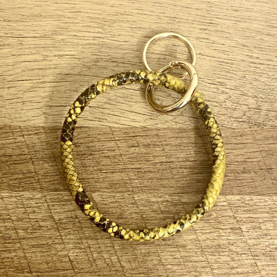 Akeke Snake Skin Keychain Bracelet - Goddess House of Glam Boutique