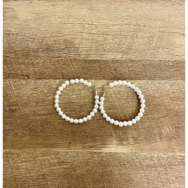 Pearl Halo Earrings